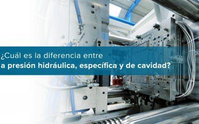 ¿Cuál es la diferencia entre la presión hidráulica, específica y de cavidad?